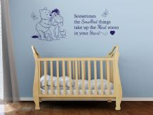 "Child's Bedroom Or Nursery ""Sometimes The Smallest Things..."" Vinyl Wall Quote"